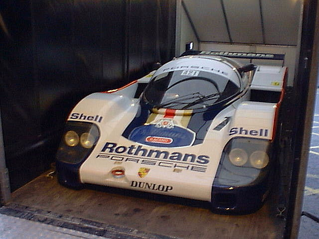They don't come much lower or wider than this Group C Porsche 956.