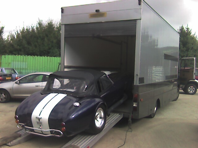 An original 427 Cobra on its way to a new home in Switzerland