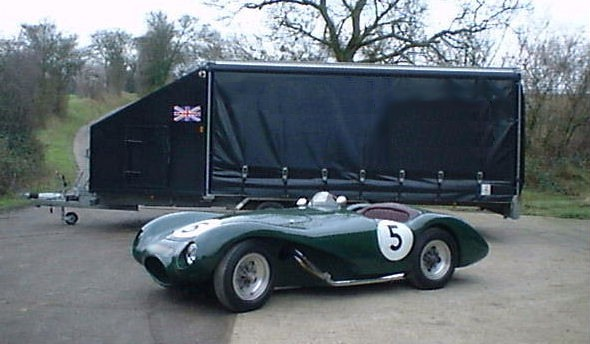 An ex Stirling Moss/Les Leston Connaught waiting to be loaded into the 'Big trailer'.