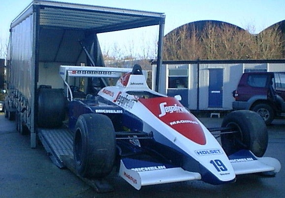 This 1984 Tolman Hart F1 car was driven by the legendary Ayrton Senna.